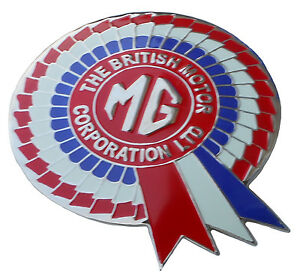 BRITISH MOTOR CORPORATION MG ERA CAR GRILLE BADGE