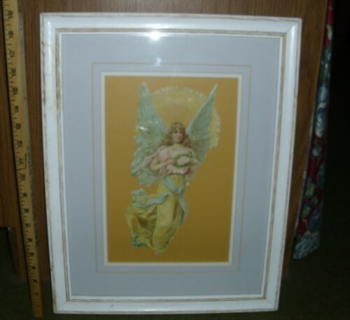 """Antique 11"""" Raphael Tuck Die Cut Scrap Angel EUC with or without frame matting"""