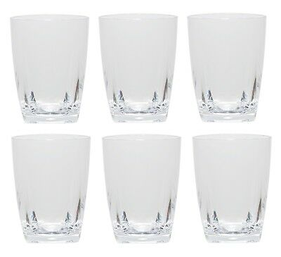 QG 16 oz Clear Acrylic Plastic Wine Glass Cup w/ Heavy Square Base Tumbler 6 pc - Acrylic Wine Glasses