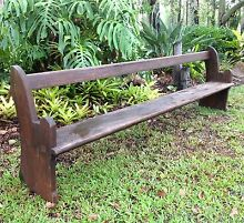 Antique Church Pew Solid Pine 1880s ex Warwick South Maclean Logan Area Preview