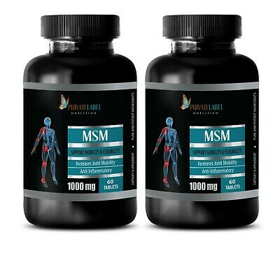 2 Joint Support Formula - Msm Joint Support Formula - MSM 1000mg - bodybuilding supplements - 2 Bottles