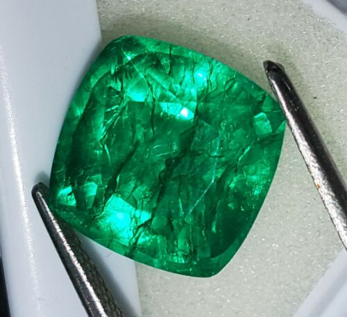 Natural Emerald Certified 8.00 Ct Loose Gemstone With Free Shipping