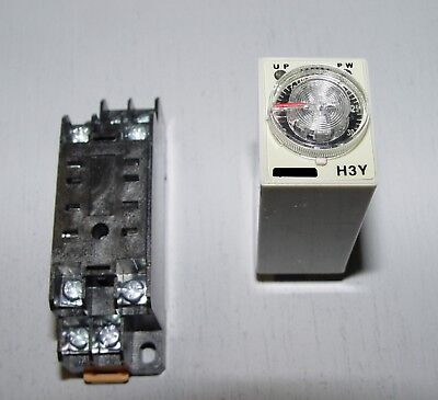 30 Minute Timer Module 220 Vac Din Rail Mount Relay Socket Included