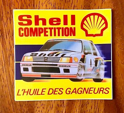 sticker autocollant voiture Peugeot Talbot 205 turbo 16 T16 rallye SHELL racing