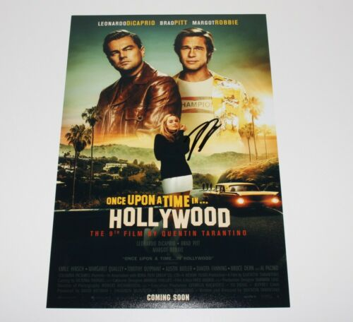 LEONARDO DICAPRIO SIGNED 'ONCE UPON A TIME IN HOLLYWOOD' MOVIE POSTER w/COA LEO