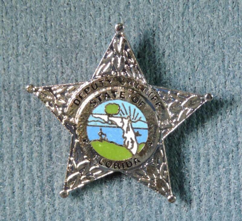 Deputy Sheriff Police State of Florida Mini Badge Pin Pinback