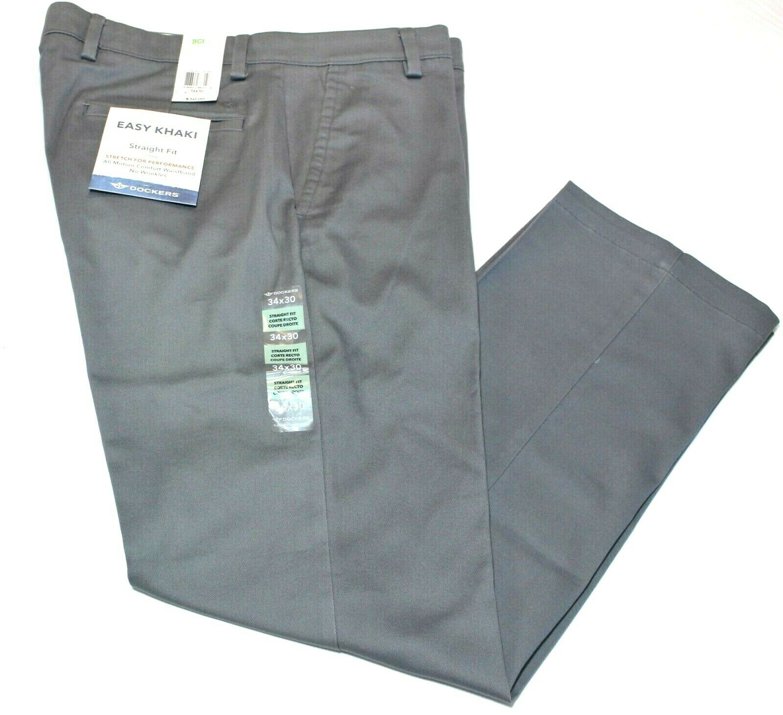 Men's Dockers Easy Khaki  Straight Fit Stretch All Motion Pa