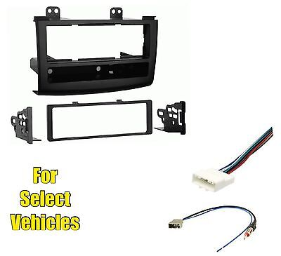 Car Stereo Radio Install Dash Trim Face Mount Kit Combo for 08-10 Nissan Rogue 08 Nissan Rogue Single