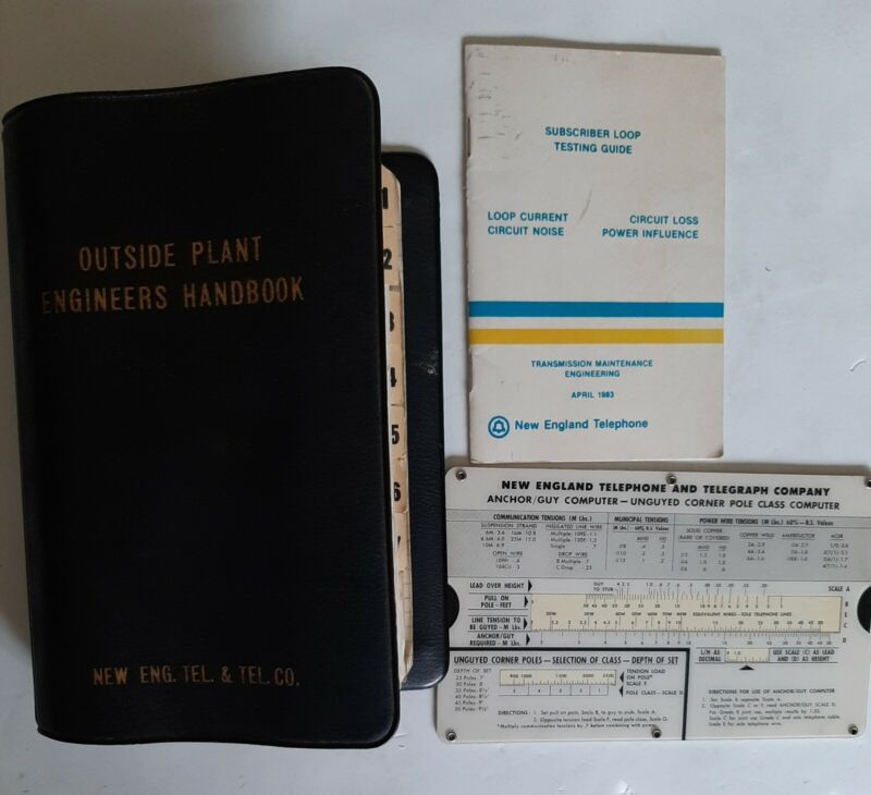 New England (Eng.) (Telephone) Tel & Tel. Co. Outside Plant Engineers Handbook