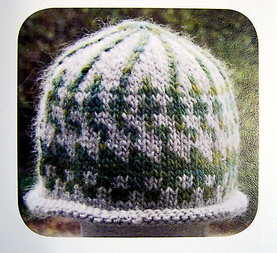 - STEPS & LADDERS INTARSIA HAT to KNIT in BULKY WT YARN by GREEN MOUNTAIN SPINNERY
