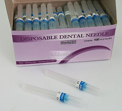 100pcs Dental Needle Disposable Endodontics 30g Plastic Hub Syringe 2size Choose