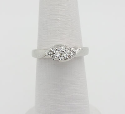 Zales 1/2CT Diamond Solitaire Engagement Wedding Ring 14K White Gold