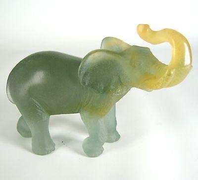 Daum Glas Figur / Elefant signiert France Glass Figurine Elephant Crystal RARE