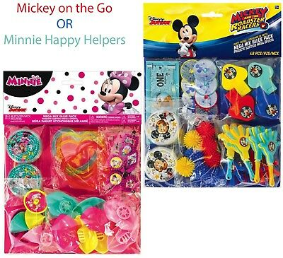Mickey Minnie Mouse Favor Pack Kids Birthday Party Favor Supplies ~ 48pcs Toys