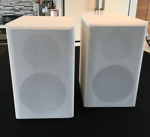 Rare White Finished Paradigm Atom V1 Bookshelf Speakers