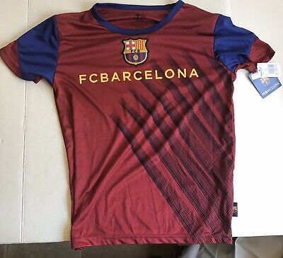 Barcelona Official Youth Playera  Azul Aurimoda Jersey Size M/M NEW With Tags