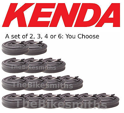 MultiPack Kenda 700x20-28 48mm Smooth Long Presta Valve Road Bike Tube 700x25