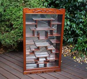 Rosewood Wall Curio Display Cabinet Brighton Bayside Area Preview