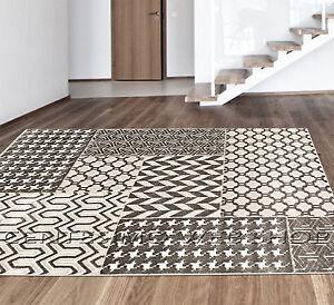 tappeto moderno 3 misure arredo sala camera beige pied de poule