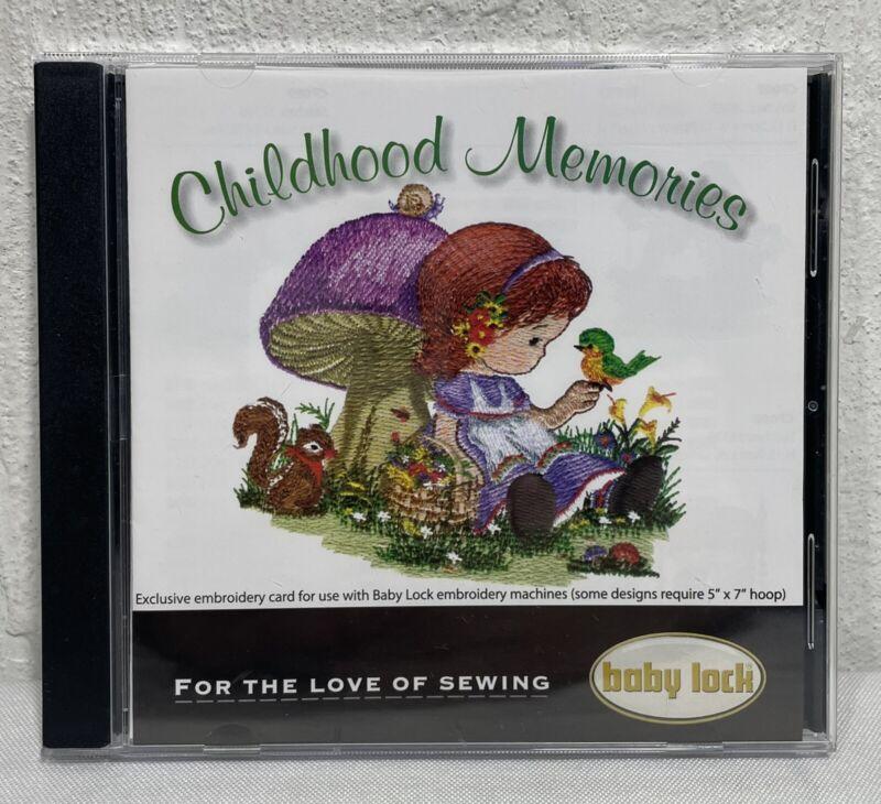 Vintage Baby Lock Embroidery Design Card Childhood Memories BLEC-P11