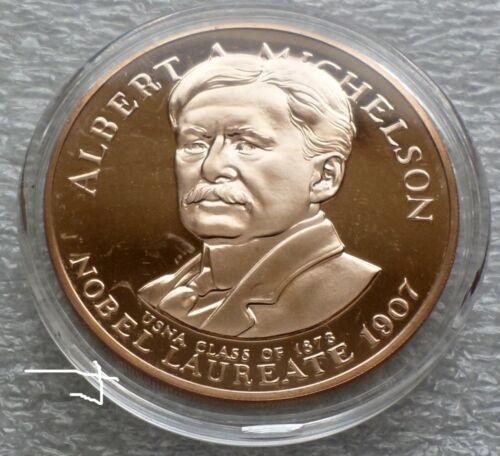Albert A. Abraham Michelson Nobel Laureate U.S. Naval Academy 1969 Bronze Medal