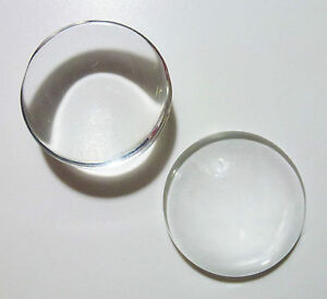 ROUND CLEAR GLASS DOMED CABOCHONS-CHOICE OF SIZES