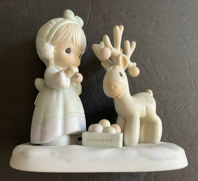 Precious Moments - #522317 - Merry Christmas Deer   FREE SHIPPING