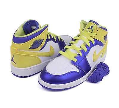 NIKE Air Jordan 1 Mid (GS) Girls Basketball Size 5.5Y US