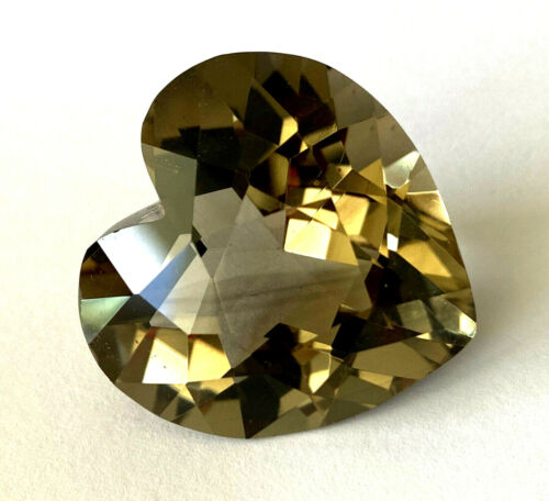 Gem Lover! Huge Heart Shape 77.3 Ct Natural Smoky Quartz Loose Gemstone Beauty!