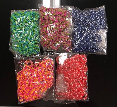 5400 ( 9x600 ) Rainbow Color Loom Refill Rubber Bands With S Clips](Rubber Band Looms)