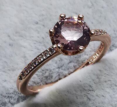Pandora 188289C01 Pink Sparkling Crown Solitaire Ring SIZE 58 ALE