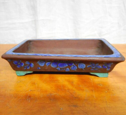 Antique Chinese Small Planter Blue & Turquoise Color Decoration