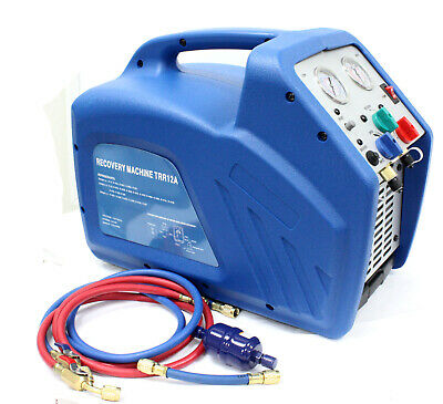 Hvac Ac Refrigerant Recovery Machine 34 Hp Compressor For R410a R134a R22 Gas