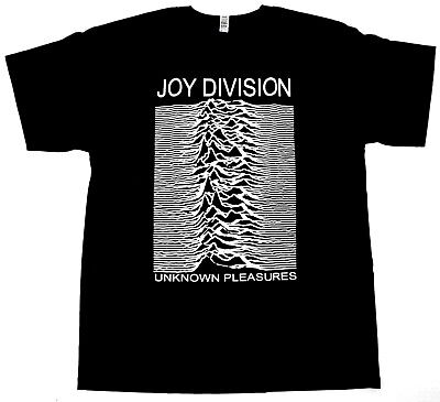 JOY DIVISION T-shirt UK Ian Curtis Post Punk Rock Adult Mens Tee Black -