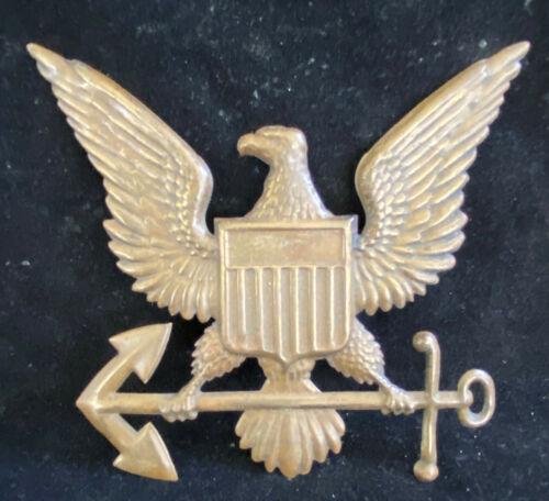 Brass US Coast Guard Eagle & Anchor Plaque Decoration