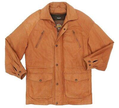 WILSONS Leather Jacket S Mens Vintage TRENCH Coat Barn Rain Coat WOOL Lined VTG