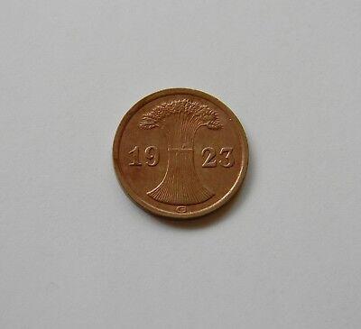 WEIMAR: 2 Rentenpfennig 1923 G, J. 307, prägefrisch/unc.  !!!