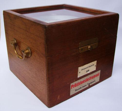 20th Century Glashutte Ships Marine Quartz Chronometer Mahogany Case Number 2126