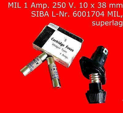Sicherungen Cartridge Fuses 1 A. 250 V. Sicherungen & Schutzschalter Elektronik