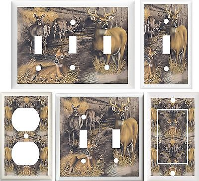 DEER BUCK & DOES #2 HOME DECOR SWITCH OR OUTLET COVER V101