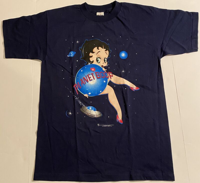 Vintage 1997 Betty Boop Large Graphic T Shirt Planet Boop- Brand New Rare