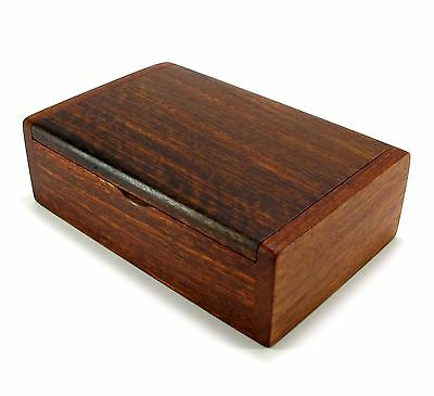 Wooden Box Handmade Trinket Storage Keepsake Jewelry Name Card Holder Gift