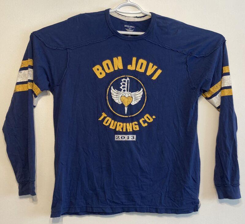 Bon Jovi Hockey Jersey Style Long Sleeve T Shirt Concert Tour 2013 13 XXL 2XL
