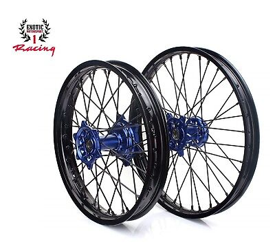 """Complete  WHEELS SET YAMAHA YZF 250 YZ250F YZ450F 21"""" & 19"""" BLACK RIMS 2014-18, used for sale  Shipping to Ireland"""
