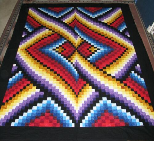 BARGELLO LINKS FINISHED QUILT