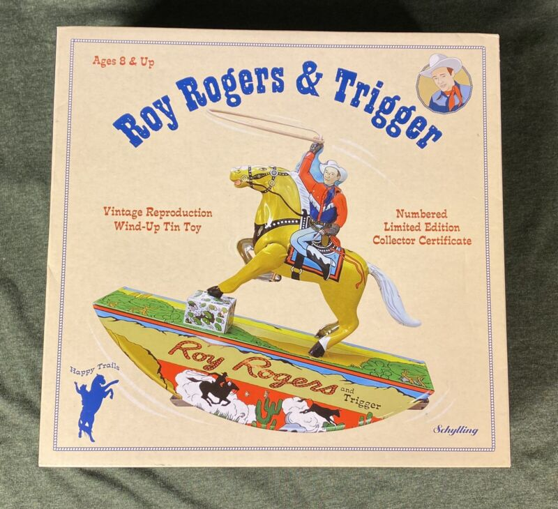 Schylling Roy Rogers And Trigger Vintage Reproduction Wind Up Tin Toy
