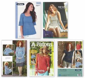 PATONS Ladies KNITTING PATTERN + BOOK Sweater Wrap Lace Top Jacket 4 PLY COTTON