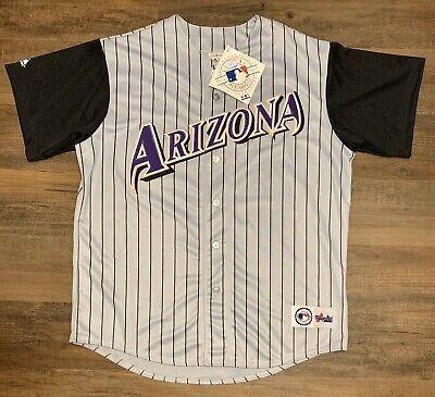 Deadstock Arizona Diamondbacks Majestic Pinstripe Team Jersey W/Tag Men's SZ XL