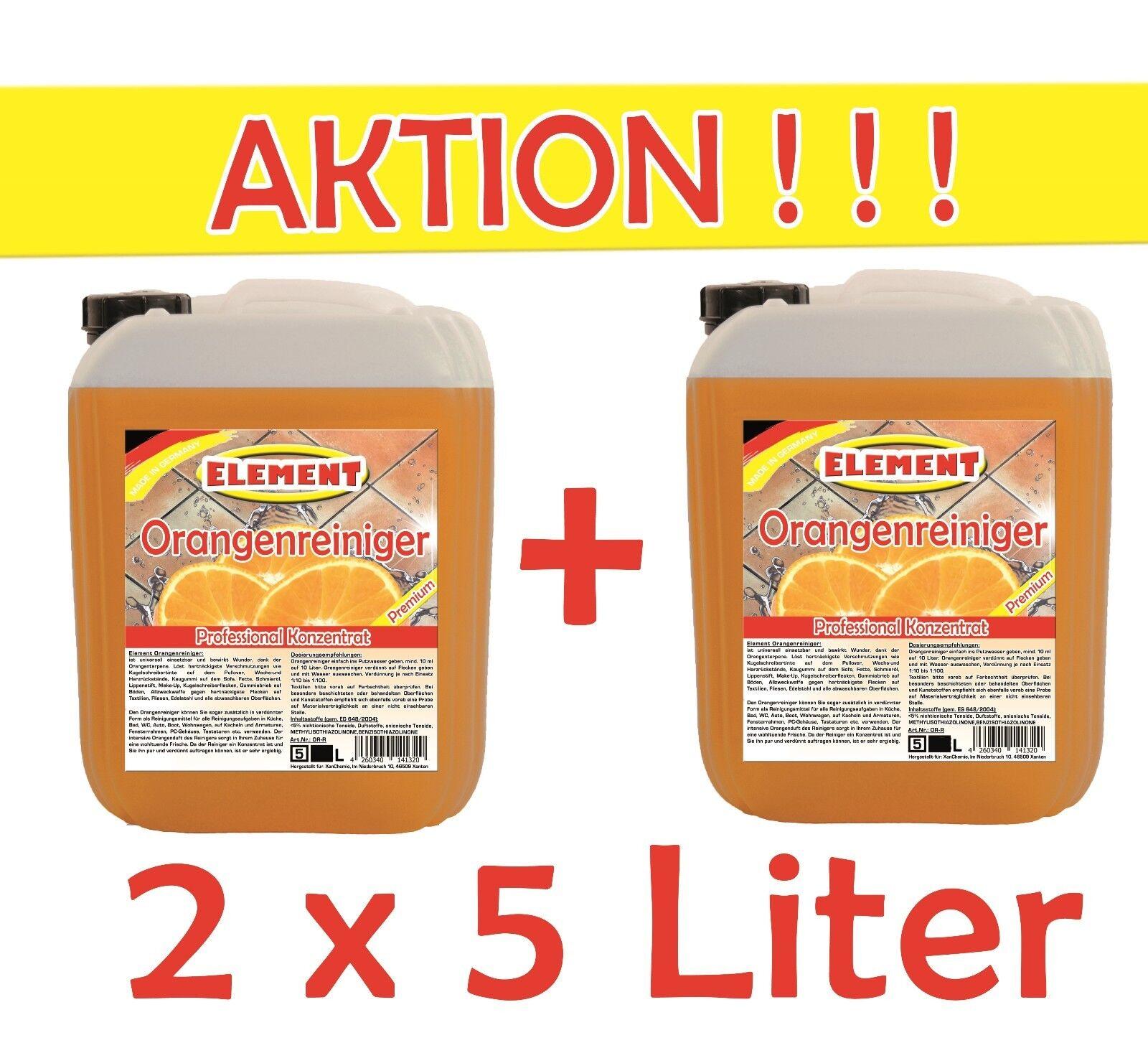 Orangenreiniger 2x 5L Konzentrat Allzweckreiniger Fleckentferner Orangenöl Fettl