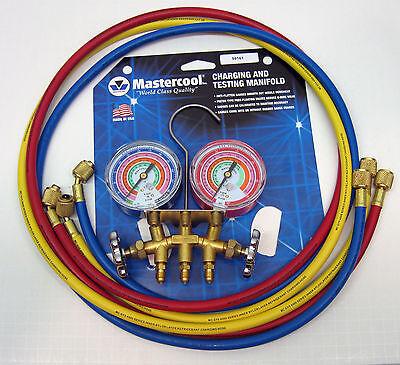 59161 Mastercool Ac Hvac Refrigeration Manifold W 60 Hoses R410a R404a R22